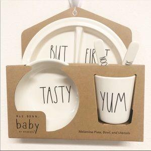 New Rae Dunn Baby 5 Pcs Melamine Gift set